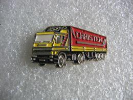 Pin's Des Transports Routiers Christen. Tracteur SCANIA - Transportation
