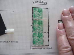 Variété Type Paysanne Moissonneuse N° 1115A Impression Sur Raccord 1 Tp Charnière - Variedades Y Curiosidades