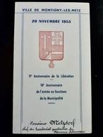 Menu 1955 _ 11e ANNIVERSAIRE De La LIBERATION _ VILLE De MONTIGNY Les METZ - Menus