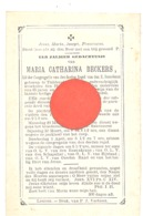 Doodsprentje Mvr Maria Catharina BECKERS  - THILDONCK/TILDONK 1821 / 1886 - Décès