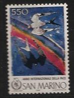Saint-Marin San Marino 1986 N° 1138 ** Année Internationale De La Paix, Oiseaux, Arc-en-ciel, Colombe, Pie, Anti Racisme - Saint-Marin