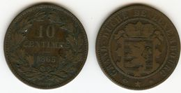 Luxembourg 10 Centimes 1865 A KM 23.2 W254 - Luxembourg