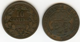 Luxembourg 10 Centimes 1870 KM 23.1 W254 - Luxembourg