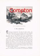 290 A E.T.Compton Jungfrau Berglihütte, Grindelwald Artikel Mit 5 Bildern 1896 !! - Suiza