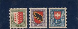 Suisse - Année 1921 - Neuf** - Pro Juventute - N° Zumstein 18/20** - Ecussons De Cantons Et Du Pays - Nuovi