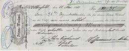 PRIMA WECHSEL  KREFELD  Mai 1901 - Lettres De Change