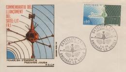 Enveloppe   FDC   1er  Jour    ANDORRE    Satellite  FR1   1966 - FDC