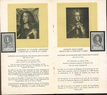 Livret émis Par La Poste Avec Biographie Des Maîtres Des Poste UPU 881/892 - Bélgica