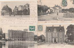 4 CPA:NOGENT SUR SEINE (10) GRANDS MOULINS SASSOT FRÈRES,AVENUE DE LA GARE,CAISSE D'ÉPARGNE,LA GARE - Nogent-sur-Seine