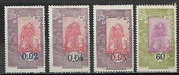 COTE  DES  SOMALIS   -  1922 / 23  .  Y&T N° 109 à 112 (*).  Surchargés. - Nuovi
