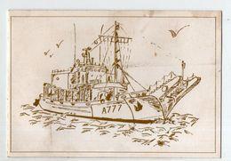 Carte De Voeux Avec Bateau A777 (PPP23002) - Vieux Papiers
