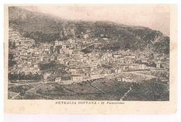 B3645 - Palermo, Petralia Sottana, Panorama , Viaggiata 1919 Francobollo Asportato - Palermo