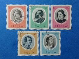 1973 ITALIA ARTISTI FAMOSI PERSONAGGI CELEBRI FRANCOBOLLI USATI ITALY STAMPS USED - 6. 1946-.. Republic