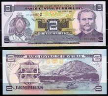 HONDURAS : 2  Lempiras  2004 -  P80  - UNC - Honduras