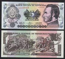 HONDURAS : 5  Lempiras  2004 -  P85  - UNC - Honduras