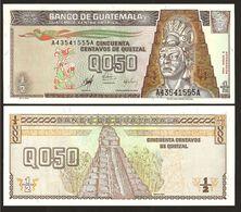 GUATEMALA : 1/2  Quetzal   1998 -  P98  - UNC - Guatemala