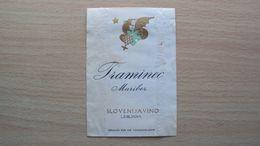 SLOVENIA VECCHIA ETICHETTA VINO  OLD WINE LABEL TRAMINEC TRAMINER SLOVENIJA VINO LUBIANA LJUBLJANA - Labels