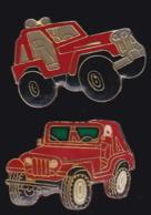 65427-Lot De 2 Pin's.automobile Tout Terrain.4X4. - Pin