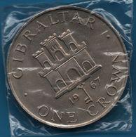 GIBRALTAR 1 CROWN 1967 KM# 4 Queen Elizabeth II - Gibilterra