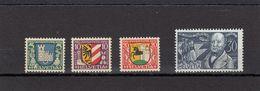 Suisse - Année 1930 - Neuf** - Pro Juventute - N° Zumstein 53/56** - Ecussons De Villes Et Portrait De J.Gotthelf - Neufs