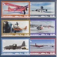 Ross, N° 167 à 172 (Aircraft : Auster T7C, DHC-2 Beaver, C130 Hercules, B757, Hélicoptère, Twin Otter) Neuf ** - Ross Dependency (New Zealand)