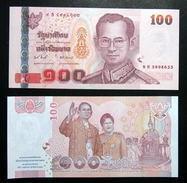 Thailand Banknote 100 Baht 2010 60th Royal Wedding And 60th Coronation UNC - Tailandia