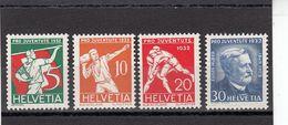 Suisse - Année 1932 - Neuf** - Pro Juventute - N° Zumstein 61/64** - Sujets Sportifs Et Portrait D'Eugène Huber - Neufs
