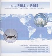 Polaire Néozélandais, émission Conjointe Ross (B8) Groenland (from Pole To Pole) Dans Une Plaque Spéciale - Ross Dependency (New Zealand)