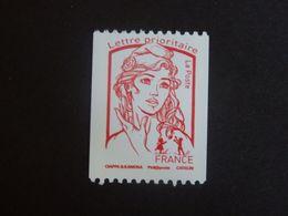 N°5018 - Rouge Prioritaire - Issu De Roulette Avec N° Noir Au Verso - LUXE** - Gomme D'origine - 2013-... Marianne De Ciappa-Kawena