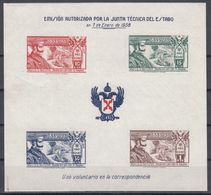 REQUETES, 1938 GALVEZ Nº 9 /**/ Sin Fijasellos, SIN DENTAR. - Emisiones Nacionalistas