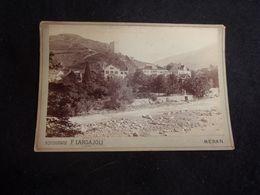 Italie . Meran. Photo Cartonnée 11 X 16,5 . Autour De 1870 - 1890 .Largajoli.Voir 2 Scans . - Alte (vor 1900)