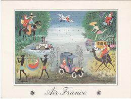D2098 CARTE DE VŒUX AIR FRANCE - DESSINS REPRÉSENTANT UN TOUR DU MONDE - Publicité