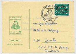 ALLEMAGNE - CP - 46eme Congrès Espéranto Dûrer Jaro 1971 - NURNBERG - Esperanto