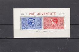 Suisse - Année 1937 - Neuf** - Pro Juventute - B.F. N° Zumstein 81/84** - 25è Anniversaire De L'émission De Timbres P.J. - Blocchi & Foglietti