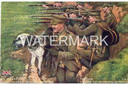 THE WAR A GUARD DOG OLD COLOUR POSTCARD ARTIST LVC - Guerre 1914-18