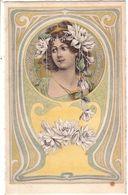 Tête De Femme Art Nouveau En Médailllon . - Illustratori & Fotografie