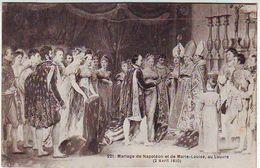 PEINTURES & TABLEAUX . MUSEE . MARIAGE DE NAPOLEON Et De MARIE -LOUISE Au Louvre . 2 Avril 1810 - Peintures & Tableaux