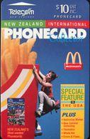 "NOUVELLE-ZELANDE  -  Phonecard  - McDonald's "" Collector Magazine  ""  -  $ 10 - Nuova Zelanda"