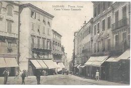 SASSARI - PIAZZA AZUMI - CORSO VITTORIO EMANUELLE  ( Animées ) - Sassari