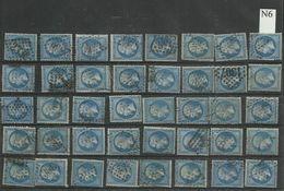 Plaquette De 40 Numéros 22  Lot 6 - 1862 Napoléon III