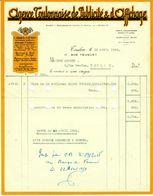 """Toulon ( Var ) Facture Colore Decorative 1959 """" Agence Toulonaise De Publicite & De Affichage """" - Imprenta & Papelería"""