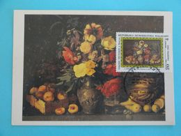 CARTE MAXIMUM CARD DE FLEURS ET DES FRUITS PAR I. CHROUTZKY MADAGASCAR - Arts