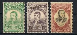 Bolivia Nice Stamps 1897 Mh* Scott# 49-50-51 - Bolivie