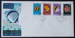 Tokelau, 1975 Sea Life Set Fdc First Day Cover    -A60 - Tokelau