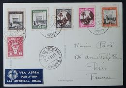 Vaticano, Cartolina Con Affrancatura Multipla Del 1936 Per La Francia           -A61 - Vatican