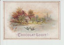 CHROMO    CHOCOLAT  LOUIT  ---  MAISON  AVEC HIRONDELLES - Guerin Boutron