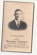 Décès Alexandre NOISET époux Irma Mallien Né Bierwart 1894 Décédé Louvain Leuven 1939 - Images Religieuses