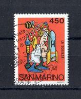 SAN  MARINO  - Scuola E Filatelia  - L. 450 - 1 Val. USATO   Del   30.10.1984 - Saint-Marin