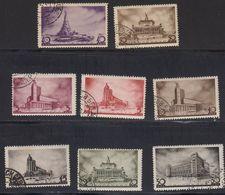 Russie URSS 1937 Yvert 596 / 603 Obliteres 1er Congres Panunioniste Des Architectes Sovietiques - 1923-1991 URSS