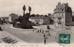 CP 54 Meurthe Et Moselle Lunéville Rond-point De La Gare - Luneville